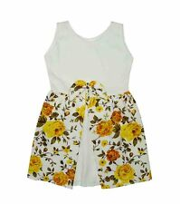 NEW! CHEZA GIRL'S PRETTY SLEEVELESS FLORAL DRESS (YELLOW FLORAL, SIZE 2-4Y)