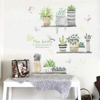 Fresh Bonsai Plant Wall Sticker Living Room Mural Decal Home Art Decor