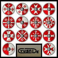 Playmobil Custom Rundschild Sticker - Kreuzritter, Crusader, Malteser, Knights