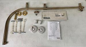 Kohler 45209-BV Vibrant Brushed Bronze Shower Slide Bar Arched Shower Column