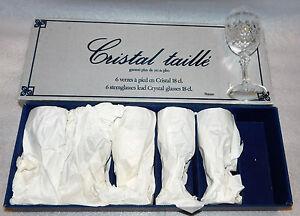 Cristal d'Arques Wine Glasses Durand St. Cloud Lead Crystal 6 Set 91058 Glass