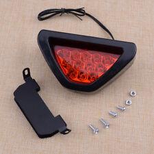 Red Triangle Flash LED Lights Motorcycle ATV Car Rear Tail Light Brake Warning