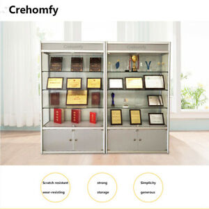 Crehomfy glass display cabinet boutique display cabinet window cabinet