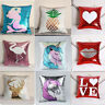 Sublimation Blank Reversible Sequin Pillow Case Sofa Cushion Cover Home Decor