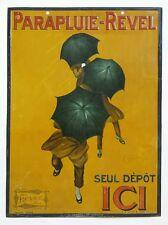 Ancienne tôle publicitaire PARAPLUIE REVEL à Lyon 69 - affiche - CAPPIELLO 1922