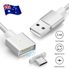 2.4A Micro USB Magnetic Charging Sync Cable Charger For Samsung S5 S6 S7