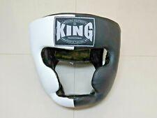 Casques de boxe KING Noir/Blanc L cuir veritable (Fairtex, TWINS, Yokkao)
