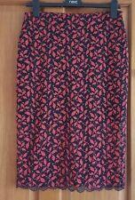 Zara Black/Red  Lace Midi /Pencil/Tube Skirt BNWT SIZE M