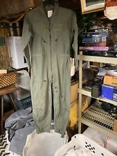 USAF US Air Force Size 42 Short Sage Green Flyers Coveralls Flight Suit CWU-27/P