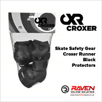 Inline Skate Safety Gear Protectors - Croxer MEDIUM Size - Black or Mint