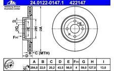 ATE Juego de 2 discos freno Antes 284mm ventilado para CITROEN NEMO