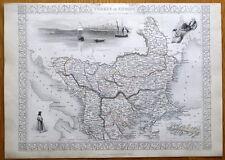 GREECE, TURKEY IN EUROPE, RAPKIN & TALLIS original antique illustrated map c1850