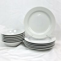 12 PIECE ODD LOT MARTHA STEWART EVERYDAY MSE CLASSIC WHITE DINNERWARE FREE SHIP