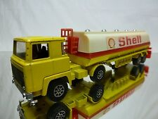 PLAYART SCANIA 141 V8 GASOLINE TRUCK +TANKER TRAILER - SHELL 1:60? - GOOD