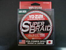 YO-ZURI SUPERBRAID Dark Green Fishing Line 40lb 300yd R1268-DG Super Braid
