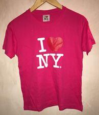 Girls Bright Pink Round Neck T-Shirt Age 14/16 I Love NY<NH6976