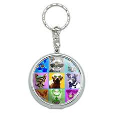 American Fido Dogs Sunglasses Rainbow Portable Travel Ashtray Keychain
