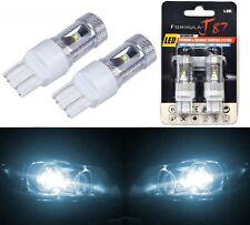 LED Light 30W 7444 White 6000K Two Bulbs Rear Turn Signal Replace Upgrade Lamp