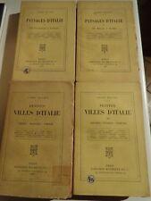 4 VOLUMES ITALIE PAYSAGES D'ITALIE TOMES 1 ET 2 + VILLES D'ITALIE TOMES 2 ET 3