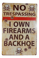 No Trespassing Funny Tin Sign Bar Cafe Diner Garage Wall Decor Retro Metal Art