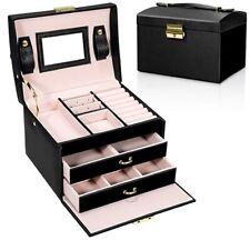 --ENVIO DESDE ESPAÑA-- Caja Joyero Organizador para Joyas con Espejo y Cajones E