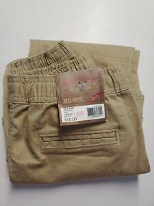 New Red Camel Jogger Pants Size M 10/12 khaki