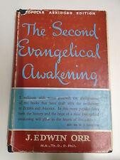THE SECOND EVANGELICAL AWAKENING by J. EDWIN ORR H/B D/W 1955 PUB. MARSHALL