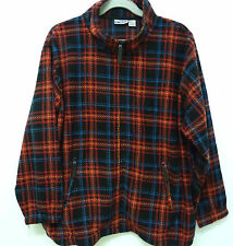 King Size Zip Front Long Sleeve Red Plaid KING SIZE Fleece 5XL Big