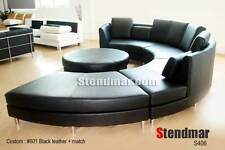 "5PC 153"" MODERN ROUND SECTIONAL LEATHER SOFA S406BK"