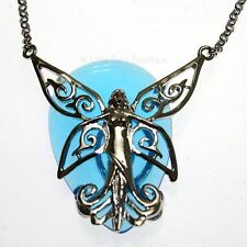 Poesy Butterfly Fairy Blue Crystal Keeper Pendant Necklace Anne Stokes CK07
