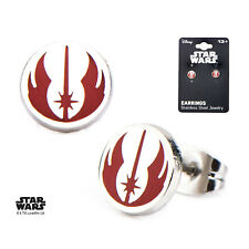 OFFICIAL STAR WARS - JEDI SYMBOL ROUND STUD EARRINGS (BRAND NEW)