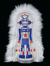 Vintage style carnival circus punk robot knock down