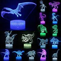 3D Dinosaur LED Night Light Color Change LED Table Desk Lamp Kids Xmas Gifts