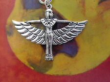 Silver Cleopatra Egyptian Queen /Victorian Style Winged ISIS EARRINGS .925hook