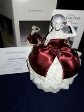 Vintage 1989 Goebel Lade Emma Hamilton Tea Cozy with Stand, Certificates and Box