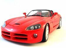 DODGE VIPER SRT10 ROADSTER 1:18 METALLIC RED,HOT WHEELS CAR COLLECTOR'S MODEL