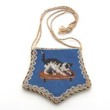 Antique Beaded Purse Featuring Goat and Cat