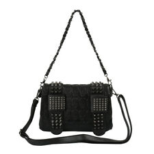 Women Rivet Skull Handbag Messenger Crossbody Satchel Shoulder Bag Purse Tote