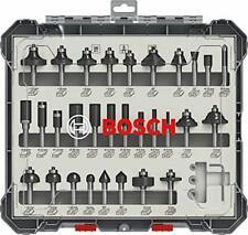 Bosch Professional 30tlg. Fräser Set (für Holz, für Oberfräsen mit 8 mm Schaft)
