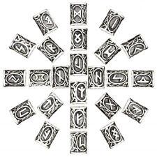 24tlg Wikinger Bartschmuck Viking Runen Bartperlen Haarschmuck Mittelalter NEU