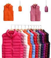 Women Men Packable Light Weight Waistcoat Down Puffer Sleeveless Jacket Vest HOT