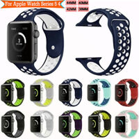 Sport Silicone Wrist iWatch Strap Band For Apple Watch SERIES 1 2 3 4 5 42/44MM