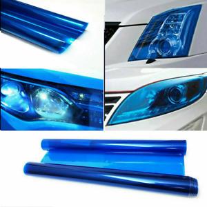 Dark Blue Car Headlight Tint Film Taillight Color-Changing Vinyl Sticker