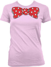 Fake Bow Tie Polka Dots Red White Necktie Suit Business Costume Juniors T-Shirt