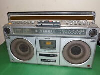 SHARP STEREO RADIO CASSETTE BOOMBOX 1980s GF-9090 VU Meter Vintage Faulty Spares