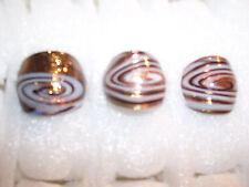 Murano  LAMPWORK  GLASS  GLITTER   RING  Size #8     (#1045-96)