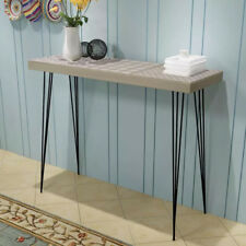 Rustic Narrow Console Table Hallway Side End Sideboard Steel Legs 90cm Chic