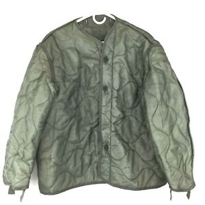 Military Coat Liner, M65 Quilted Foliage Green Cold Weather Field Jacket Liner