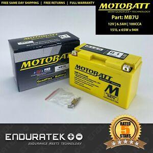 MB7U Motobatt 12V AGM Battery 6.5AH 100CCA - Yuasa YT7B-BS/YT7B-4