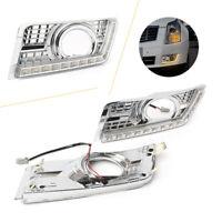 LED Daytime Running Light Fog Lamp DRL w/Turn Signal for Cadillac SRX 2011-2014